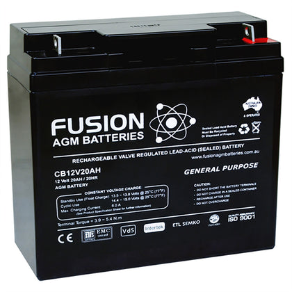 Fusion 12V 20Ah General Purpose AGM Battery
