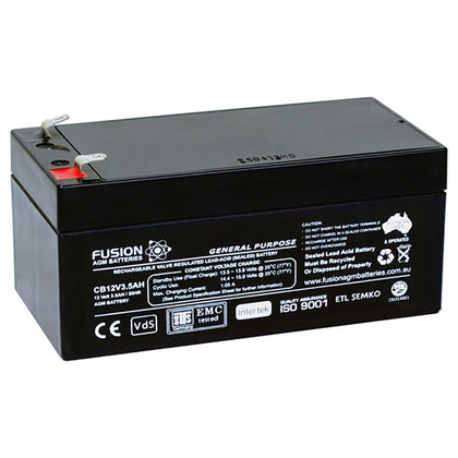 Fusion 12V 3.5Ah General Purpose AGM Battery
