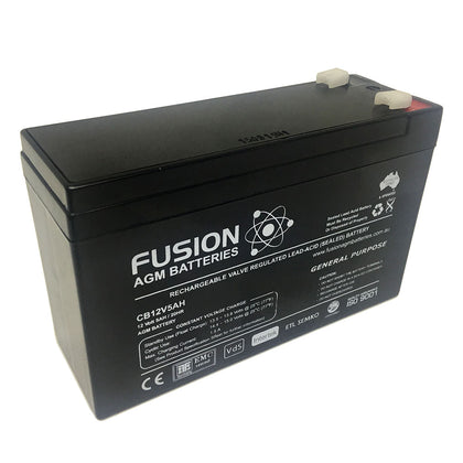 Fusion 12V 5Ah General Purpose AGM Battery