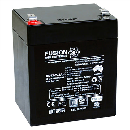 Fusion 12V 5.4Ah General Purpose AGM Battery