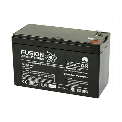 Fusion 12V 7.5Ah General Purpose AGM Battery