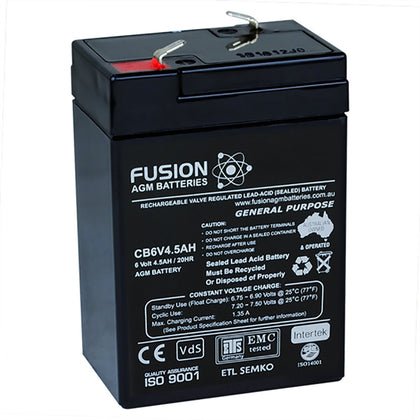 Fusion 6V 4.5Ah General Purpose AGM Battery