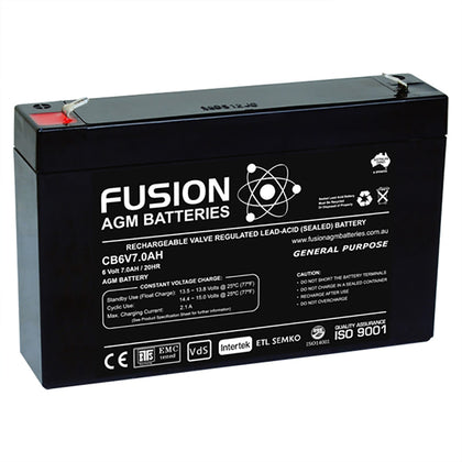 Fusion 6V 7.5Ah General Purpose AGM Battery
