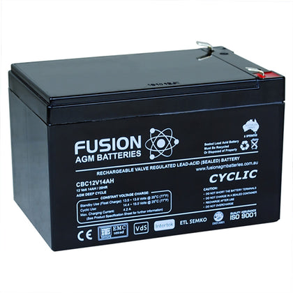 Fusion 12V 14Ah Deep Cycle AGM Battery
