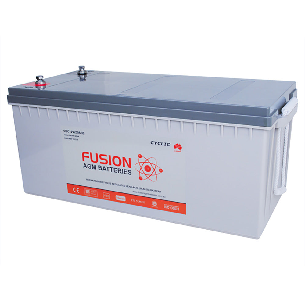 Fusion 12V 208Ah Deep Cycle AGM Battery
