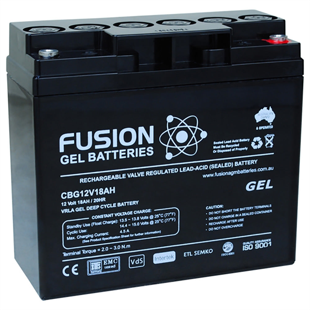 Fusion 12V 18Ah Deep Cycle Gel Battery