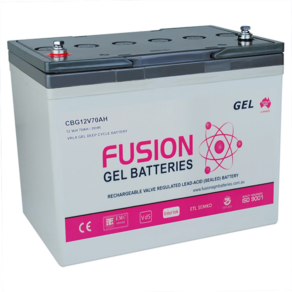 Fusion 12V 70Ah Deep Cycle Gel Battery