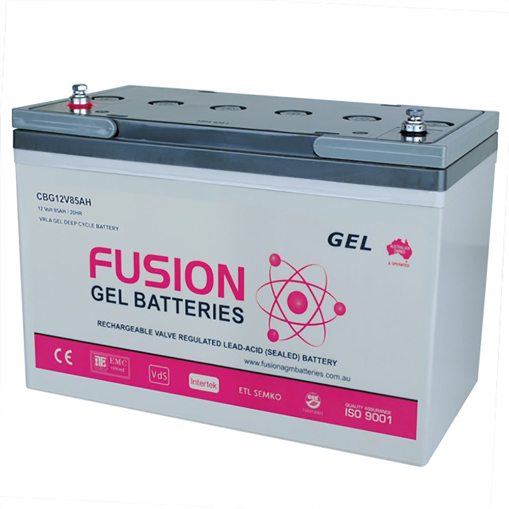Fusion 12V 85Ah Deep Cycle Gel Battery
