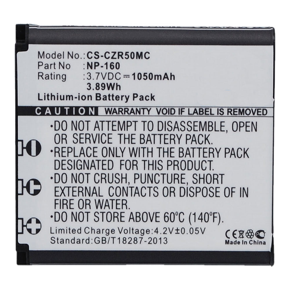 Stryka Battery to suit CASIO NP-160 3.7V 1050mAh Li-ion
