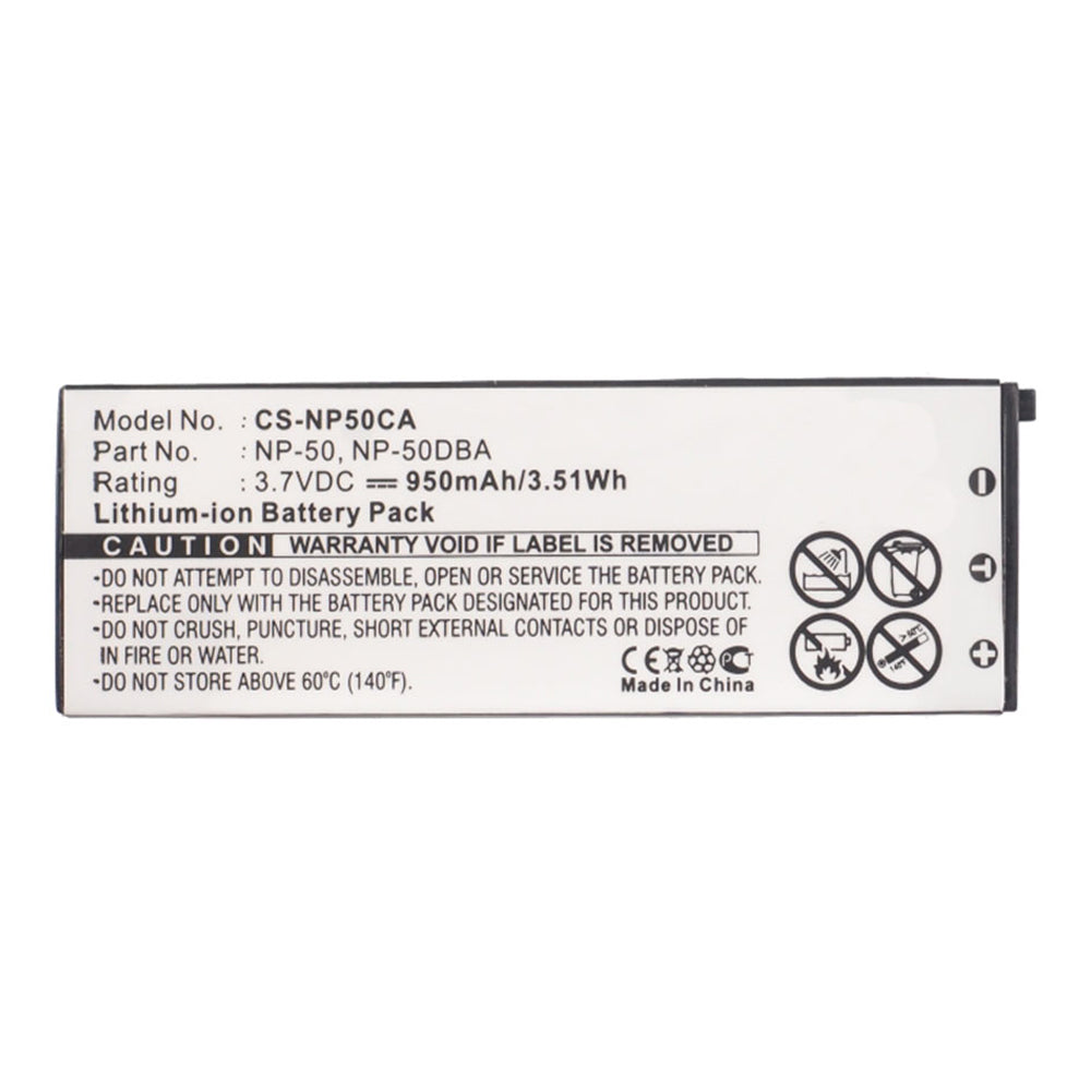 Stryka Battery to suit CASIO NP-50 3.7V 950mAh Li-ion