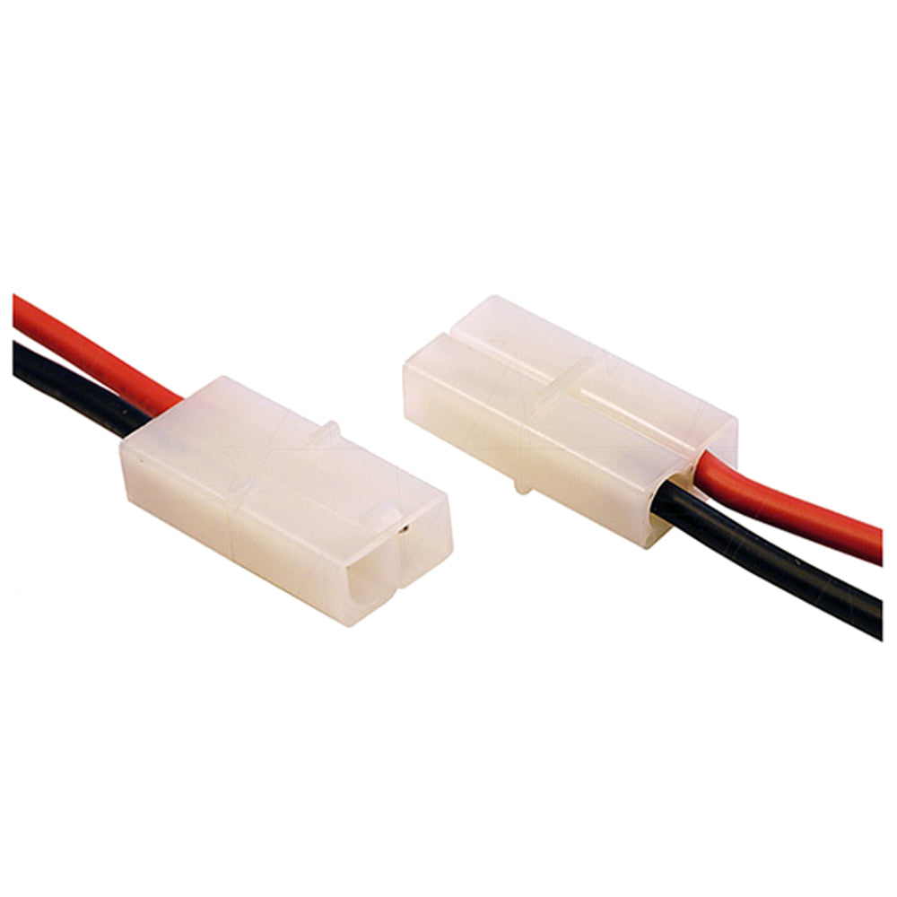 Tamiya Type Connector Female Housing-Male Pin, 16AWG Silicone leads 133mm. JST-Solterco LR02F-1