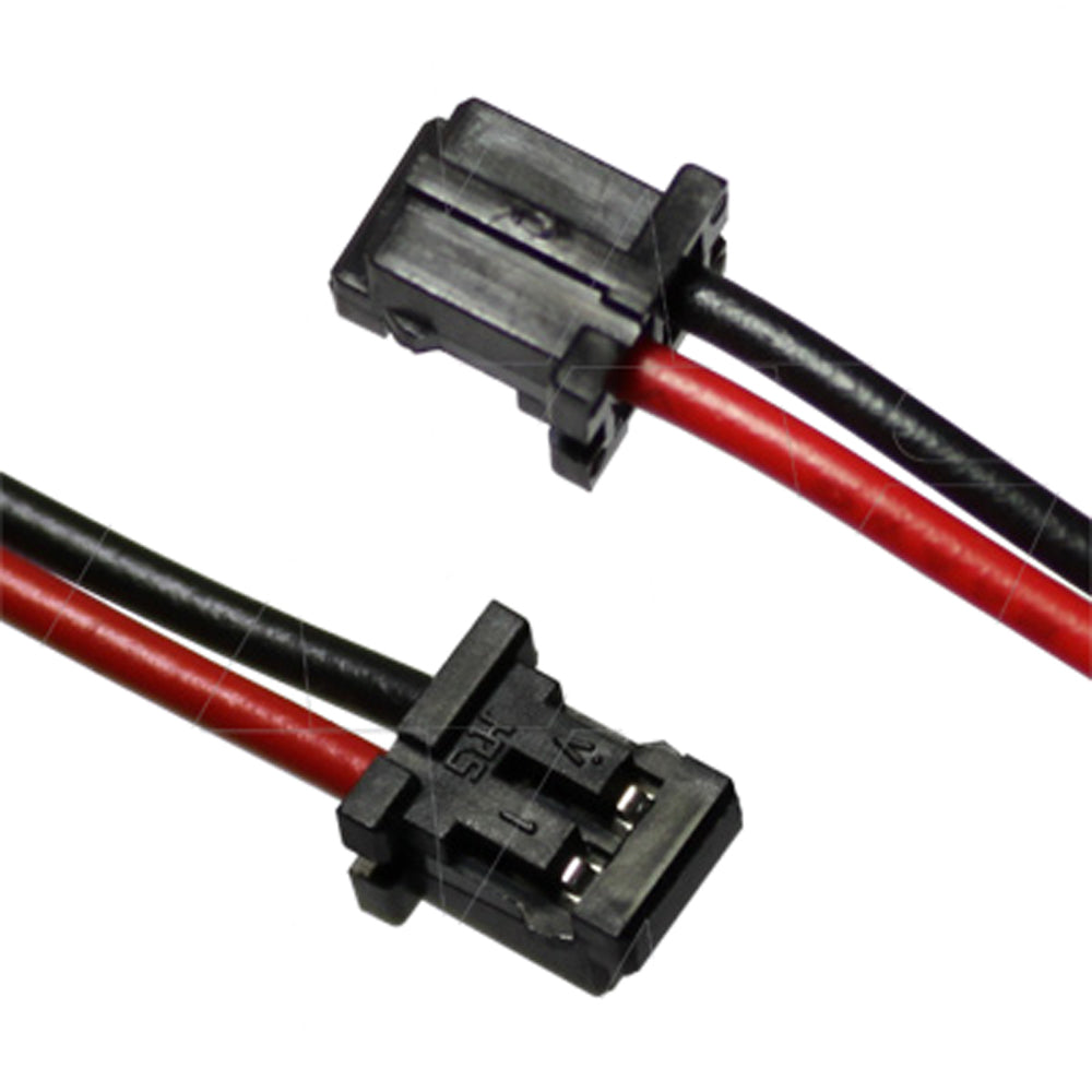 Hirose DF3-2S-2C Male, 24AWG, 80mm Red & 105mm Black Leads, Strip & Tin 3mm, Pin 1 Red