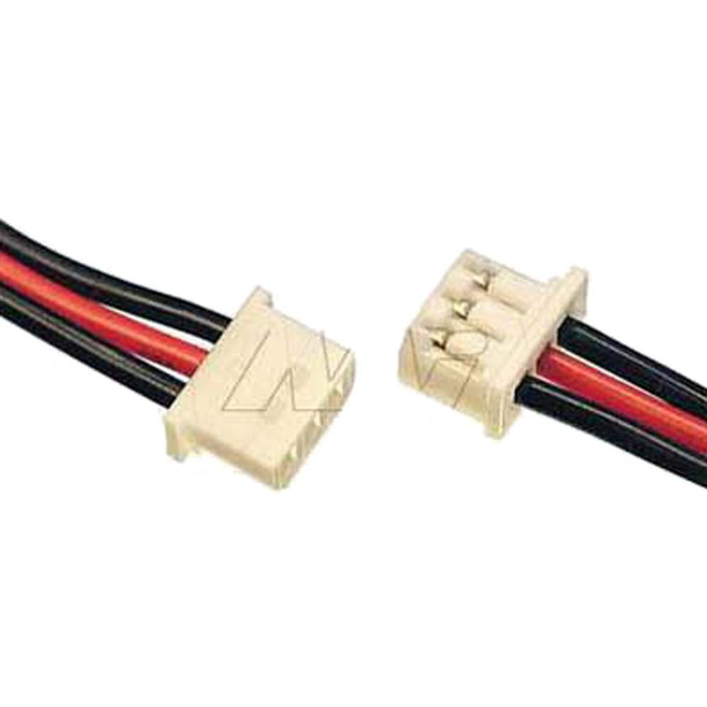 Molex Type 51004-0300, 24AWG 2 Black & 1 Red 170mm Strip & tin 3mm