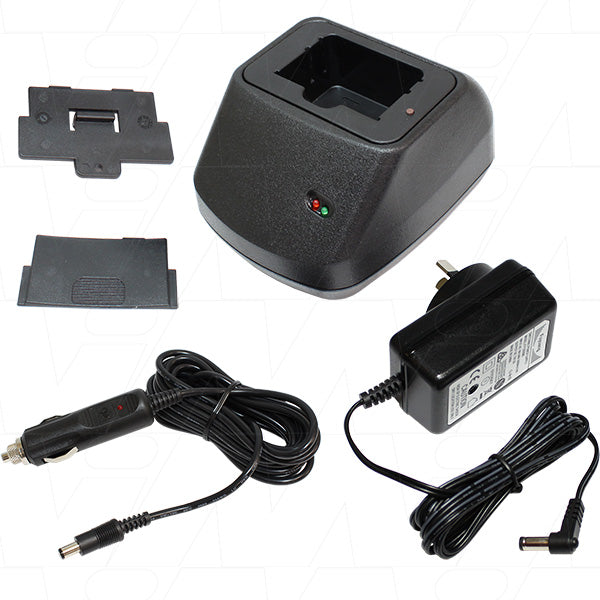 CH1 AC & DC Input Charger & Adaptor Plate to Suit HBC Crane Remote Battery 6V Types FUB03-FUB10