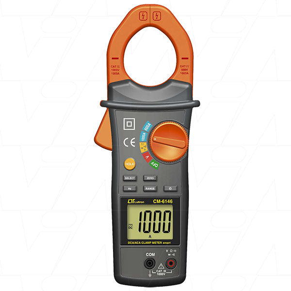 Clamp Meter - Smart, 1000 A, IEC1010 CAT III 1000V DCA/ACA