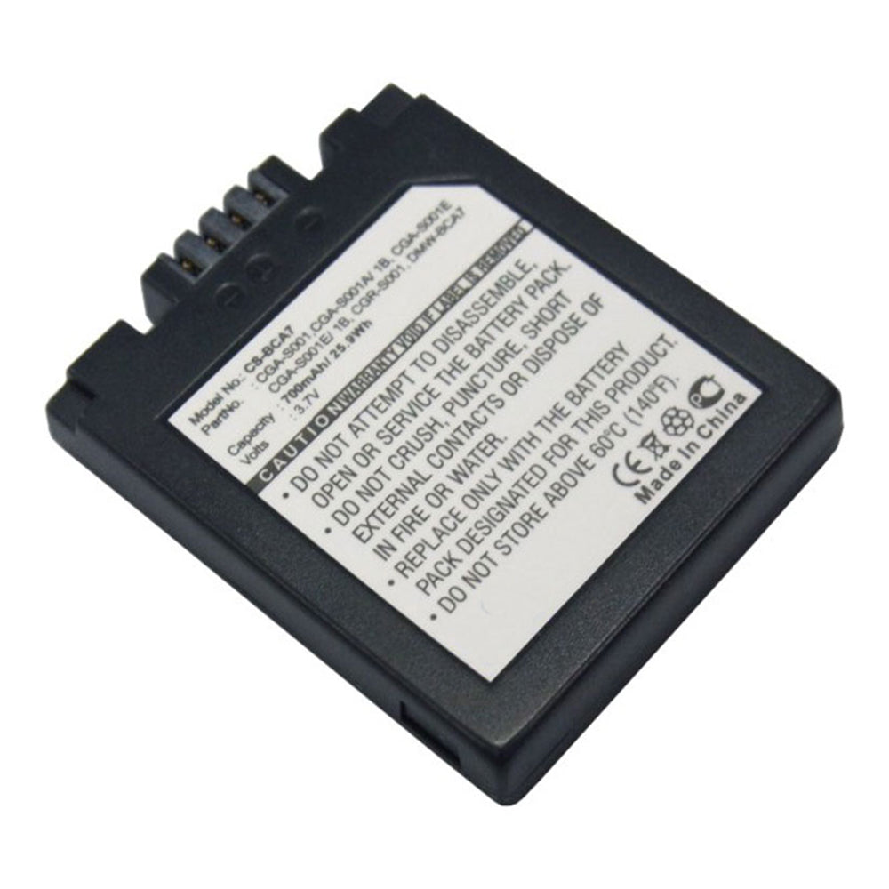 Battery to suit PANASONIC CGA-S001E 3.7V 700mAh Li-ion
