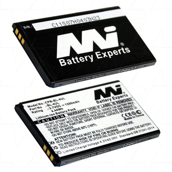3.7V 1200mAh Li-ion Mobile Phone battery suitable for Nokia