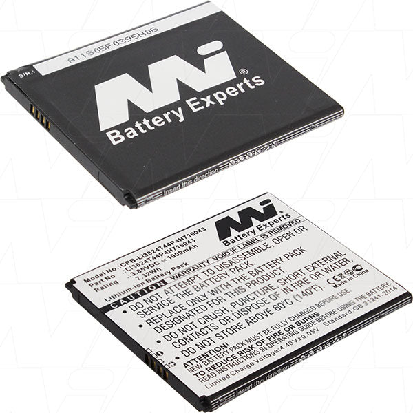 3.85V 1900mAh Li-Ion Mobile Phone Battery suitable for ZTE Blade A520