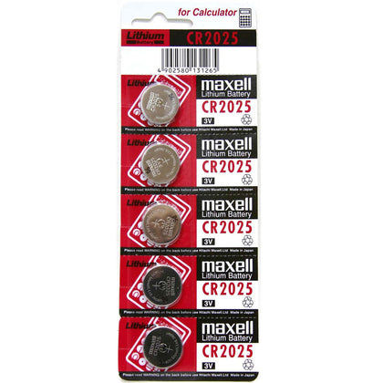 Maxell CR2025 3V 170mAh Lithium Coin Cell pack of 5
