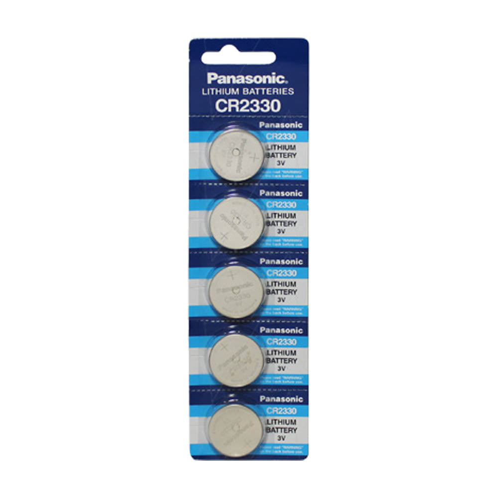 Panasonic CR2330 3V 265mAh Lithium Coin Cell Blister of 5
