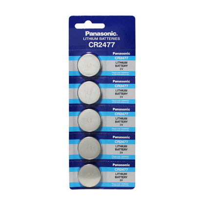 Panasonic CR2477 3V Lithium Coin Cell Blister of 5