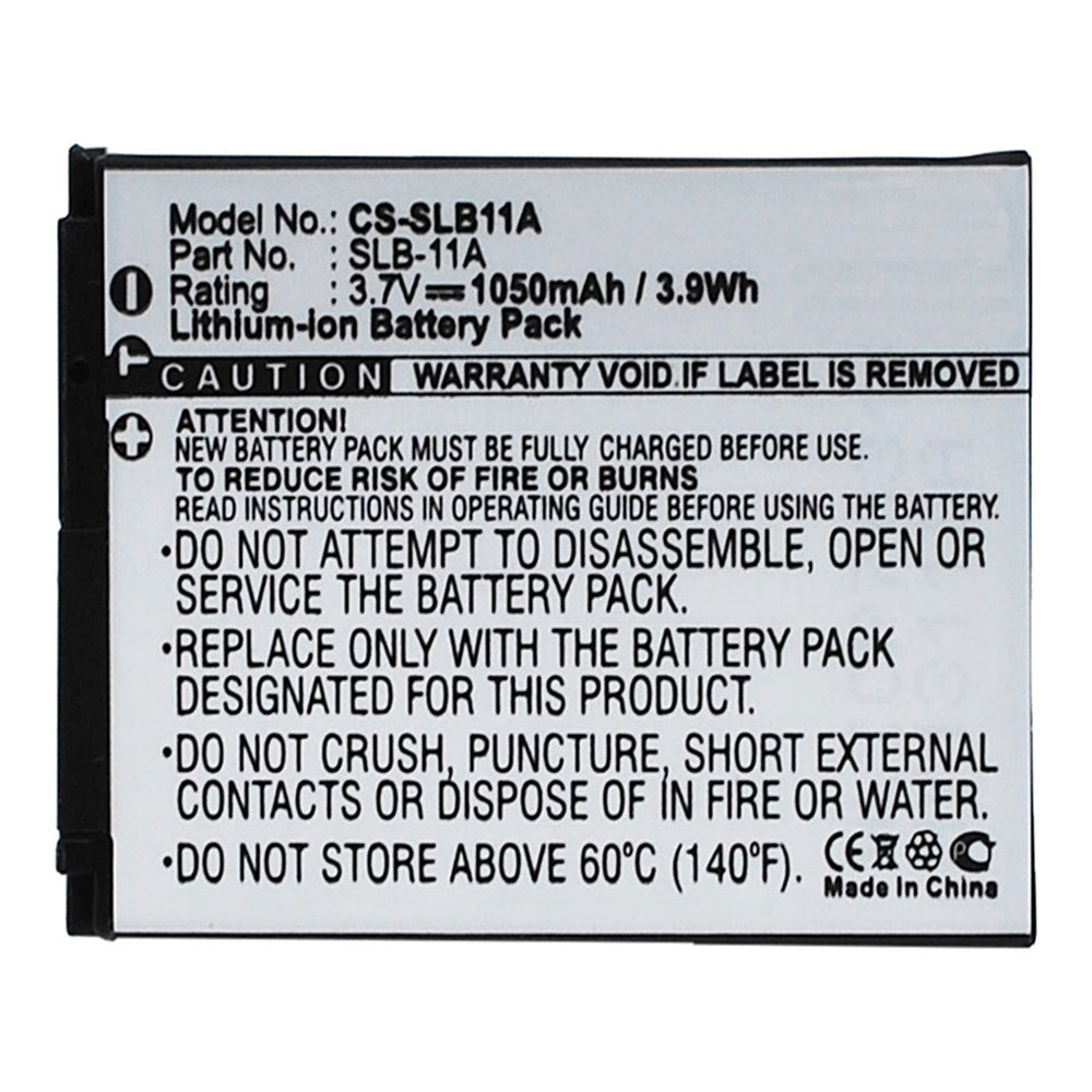 Stryka Battery to suit SAMSUNG SLB11A 3.7V 1050mAh Li-ion