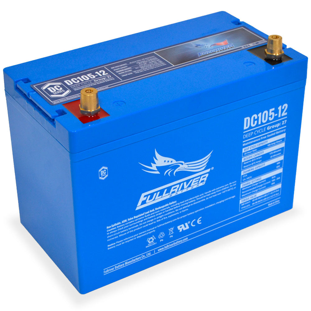 Fullriver 12V 105Ah Deep Cycle AGM Battery