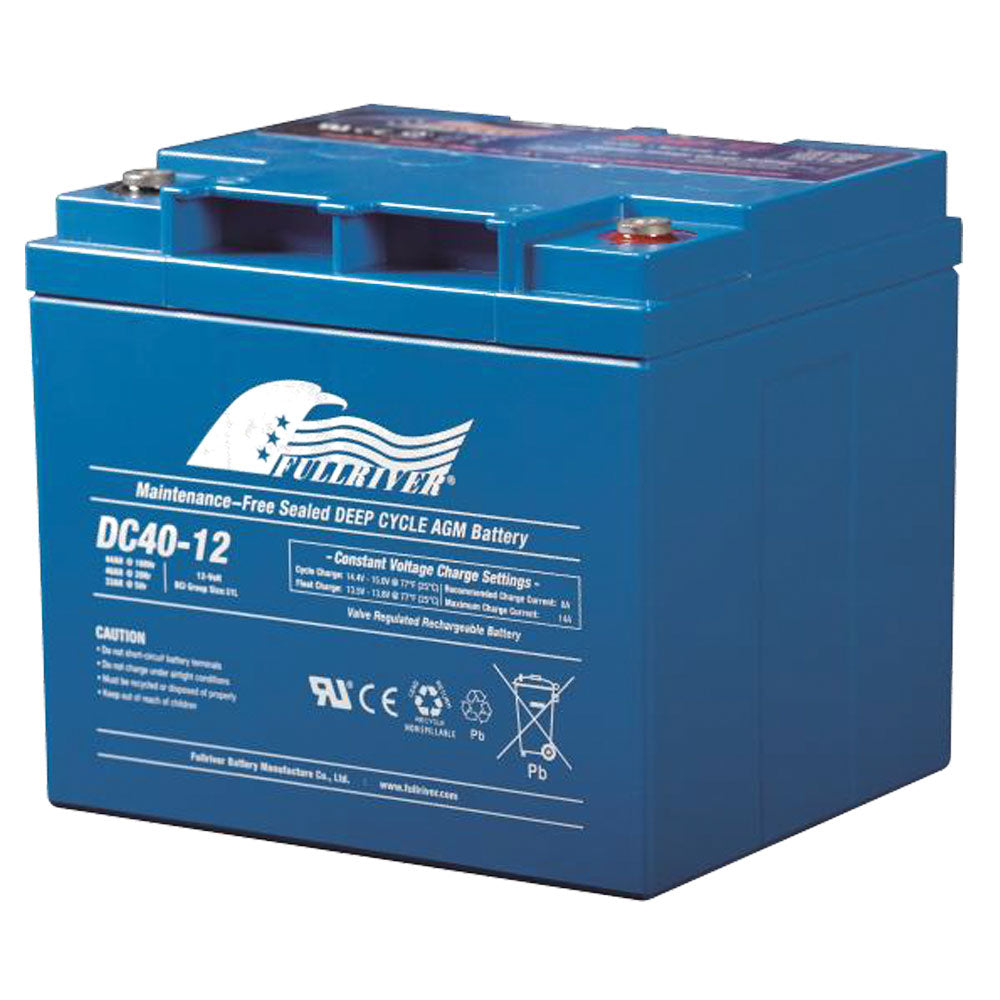 Fullriver 12V 40Ah Deep Cycle AGM Battery