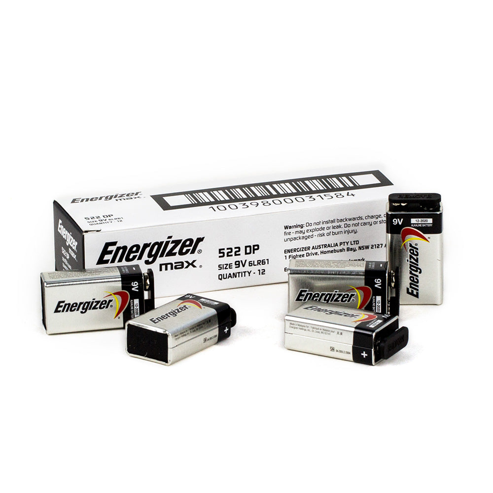 Energizer Max 9V Bulk box of 12