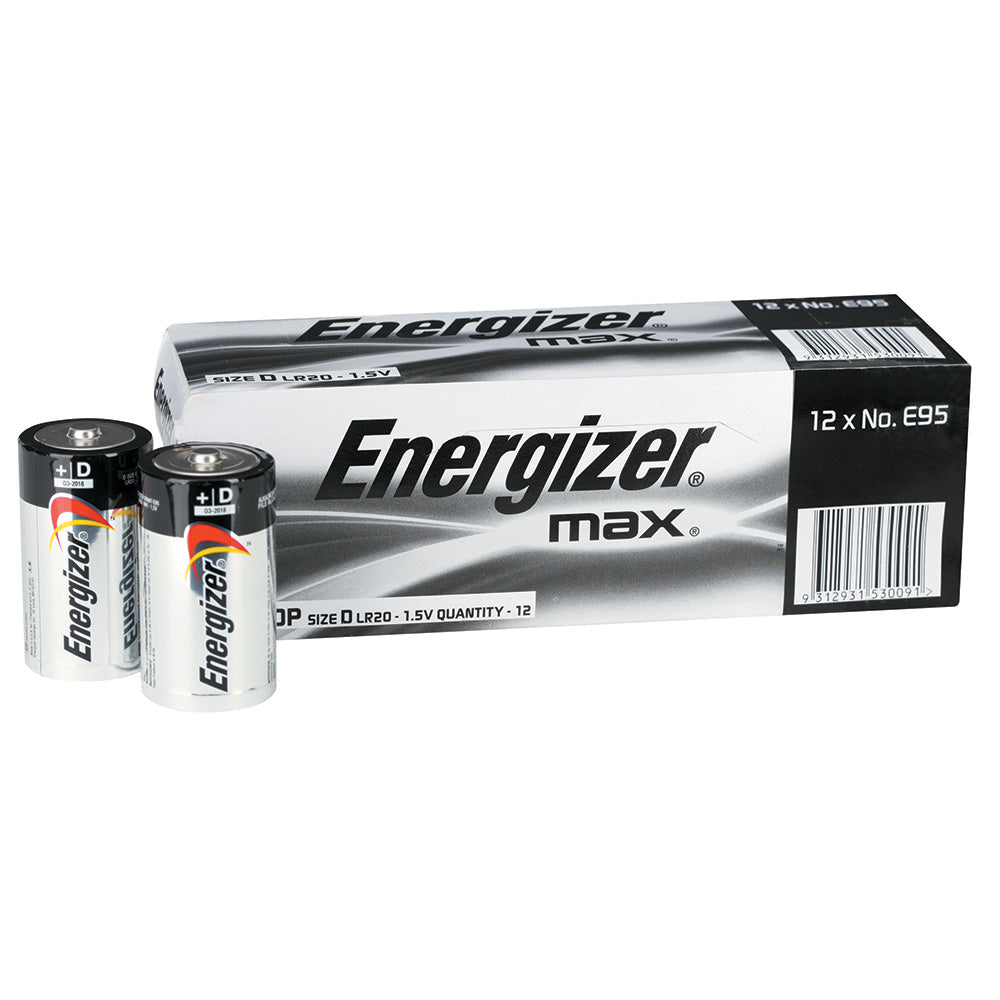 Energizer Max D Bulk box of 12