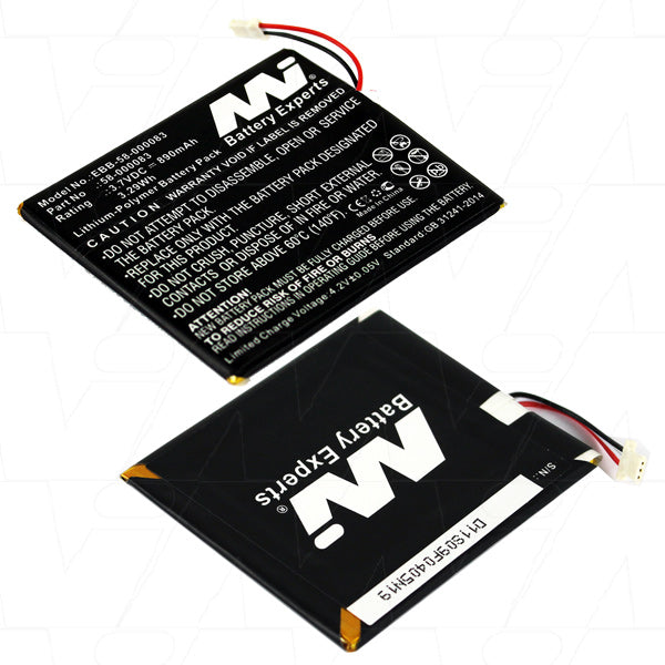 3.7V 890mAh Li-Po Battery for Amazon Kindle 7/8 Generation eBook Reader