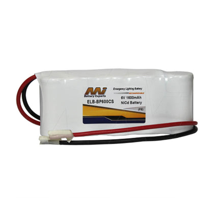 Emergency Lighting Battery Pack for White Lite 5-KR-DHL, BP600CS