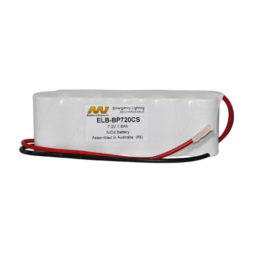 Emergency Lighting Battery Pack for White Lite 6xSC flatpack with 300mm leads.