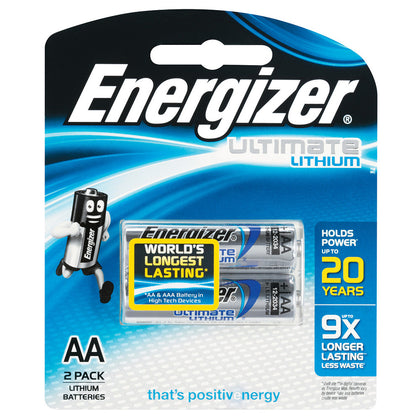 ENERGIZER LITHIUM 1.5V AA batteries 2 pack