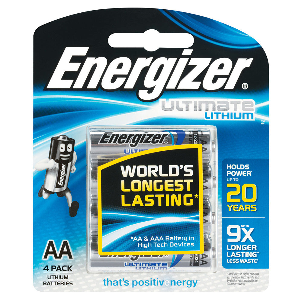 ENERGIZER LITHIUM 1.5V AA batteries 4 pack