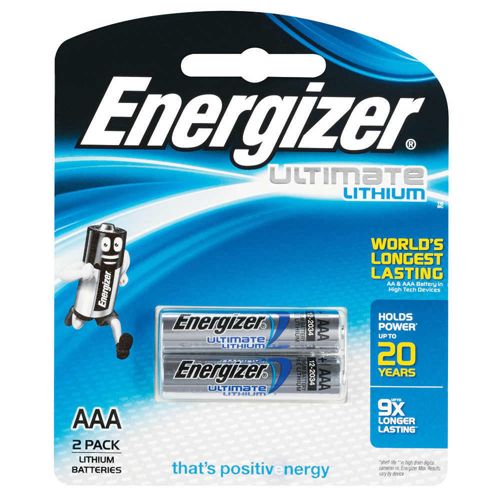 ENERGIZER LITHIUM 1.5V AAA batteries 2 pack