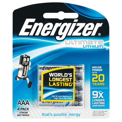 ENERGIZER LITHIUM 1.5V AAA batteries 4 pack