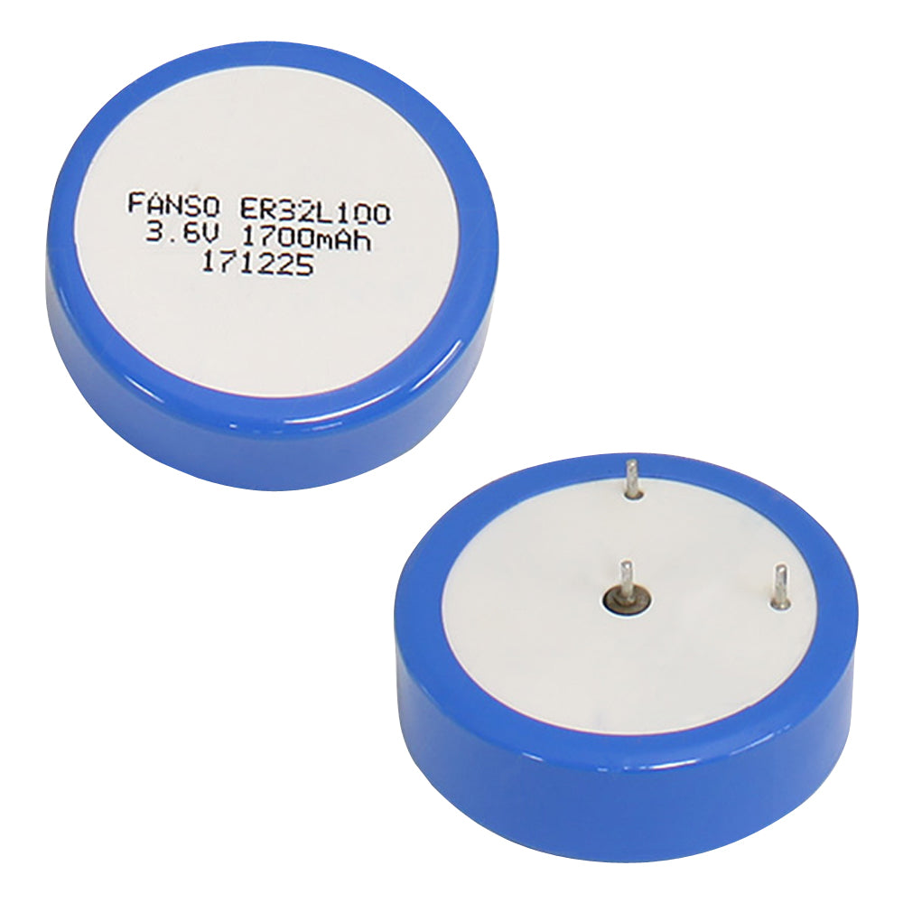 3.6V 1700mAh 1-6D Button Wafer Type Lithium Cell
