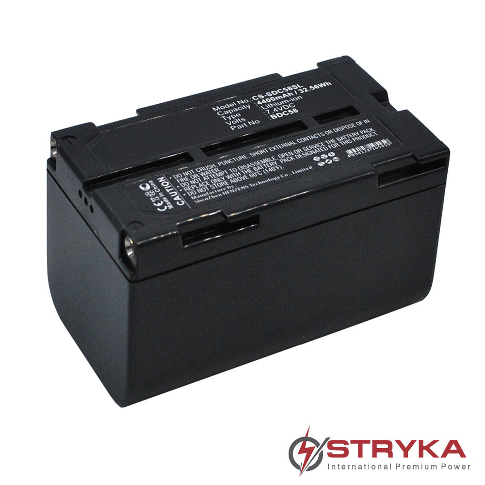 Stryka Battery to suit SOKKIA BDC-58 7.4V 4400mAh Li-ion