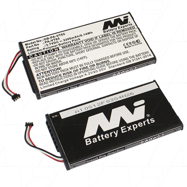 Electronic Game controller battery suitable Lithium Ion Polymer 3.7V 2.2Ah GB-PA-VT65-BP1