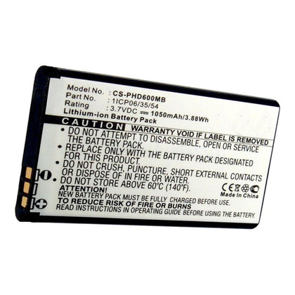 Stryka Battery to suit Philips SCD610 3.7V 1050mAh Li-ion