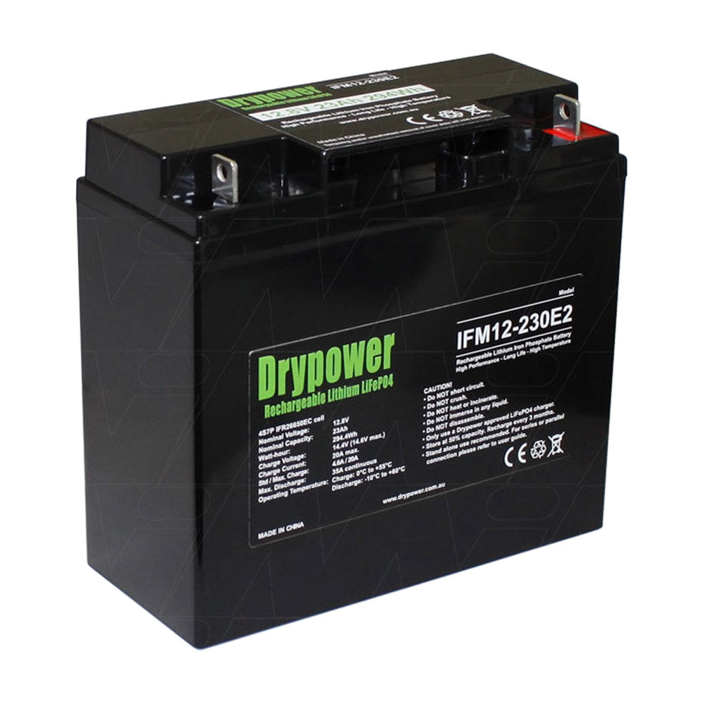 Drypower 12.8V 23Ah LiFePO4 Golf Cart Battery
