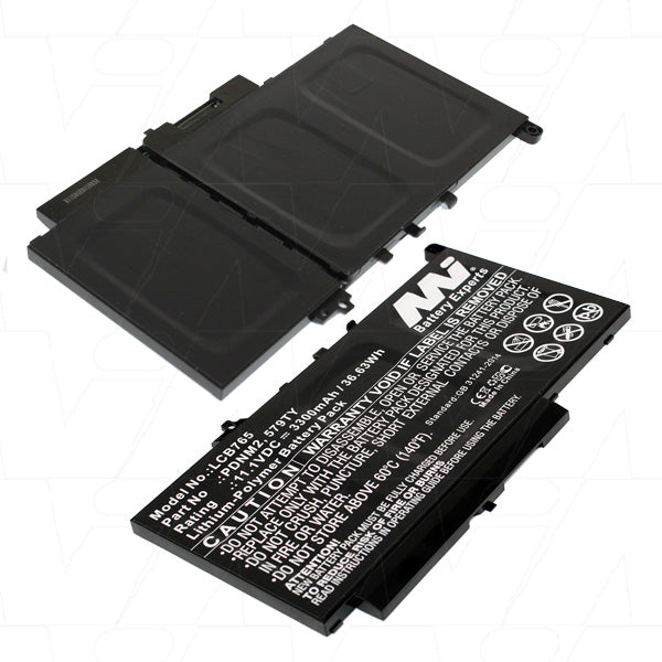 Laptop Battery suitable for Dell Lithium Ion Polymer 11.1V 3.3Ah LCB765
