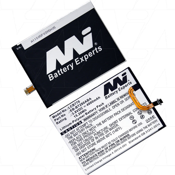 Laptop Battery suitable for Samsung Lithium Polymer 3.8V 4Ah LCB770