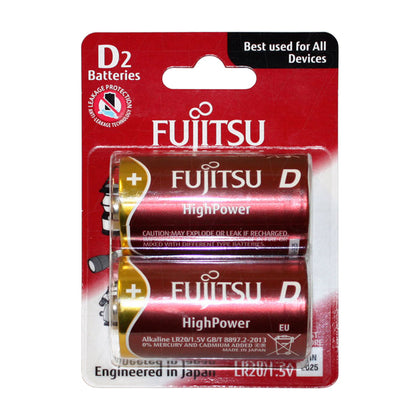 Fujitsu High Power LR20 D size alkaline battery