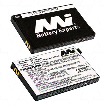Baby Monitor battery suitable for Lithium Ion (LiIon) 3.7V 1Ah MB1010