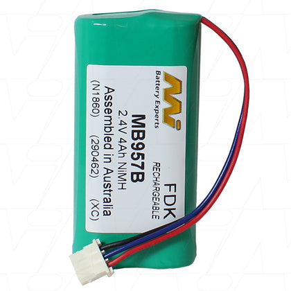 Baby Monitor battery suitable for Nickel Metal Hydride (NiMH) 2.4V 4Ah MB957B