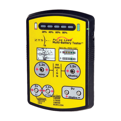 Compact Battery Tester for Primary & Rechargeable Batteries