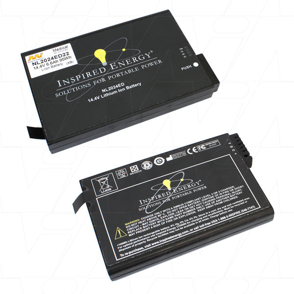 Smart Medical Battery suitable for Lithium Ion (LiIon) 14.4V 6.6Ah NL2024ED22