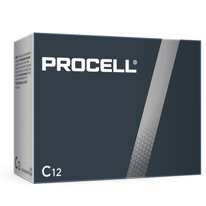 Duracell Procell Industrial C size 1.5V PC1400 Bulk Box of 12 - Battery Specialists